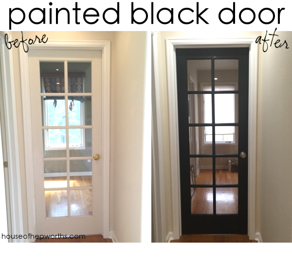 As Much As I Love This 10 Panel Glass Door, Especially Now That Itu0027s Black,  We Need Some Privacy Without Having To Replace The Entire Door.