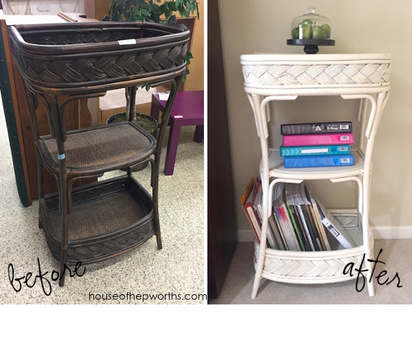 This Somewhat Ugly Bar Cart Was Donated To The Local Thrift Store And Covered In Cobwebs It Has Great Bones Though A Quick Dust Off With Swiffer