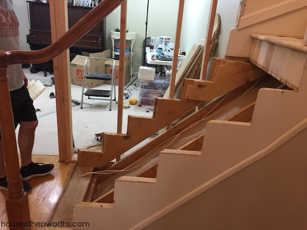 Rebuilding A Staircase Amp Framing Out A Wall House Of