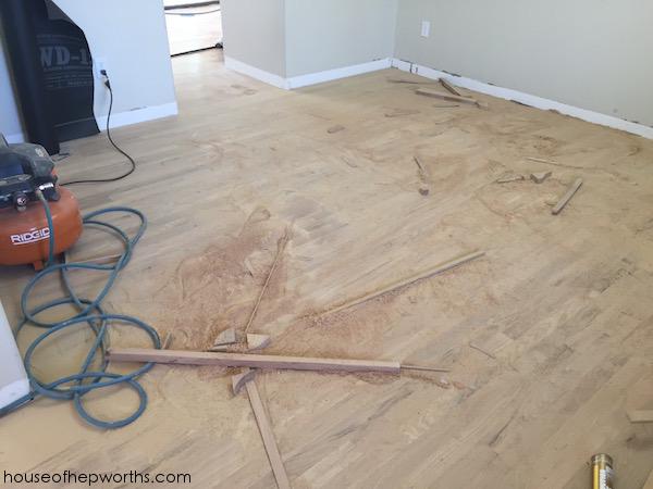 Refinishing Hardwood Floors Part 2 Sanding For Days House Of