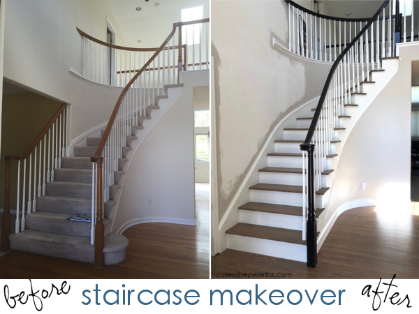 An Amazing Staircase Makeover From Carpet To Wood House Of
