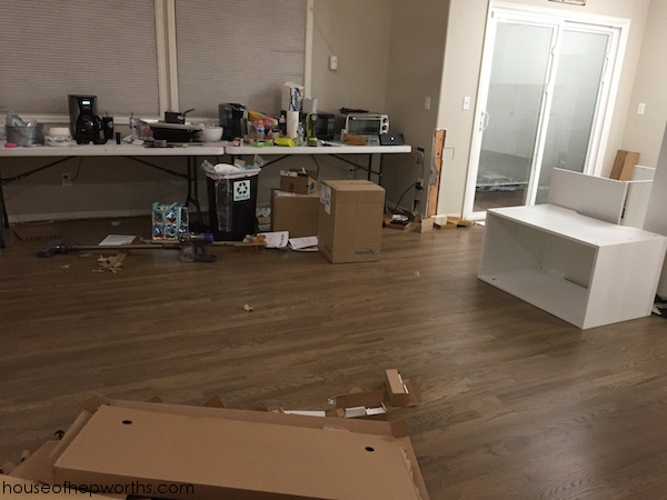 Assembling and installing IKEA Sektion kitchen cabinets