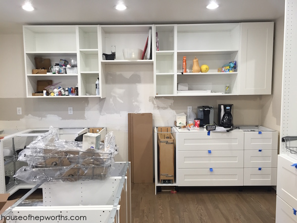 Assembling and installing IKEA Sektion kitchen cabinets