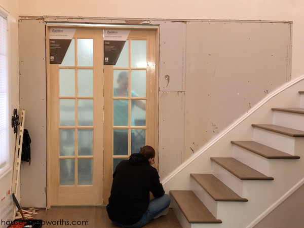 How To Add French Doors Close In A Wall House Of Hepworths