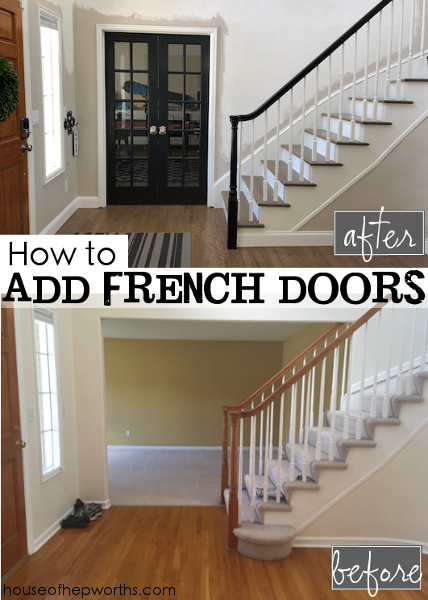 Genial In Part 1 I Showed How We Built In The Wall (and Also Reconfigured Our  Staircase), So Today Is All About Adding The French Doors, Drywall,  Texture, Paint, ...