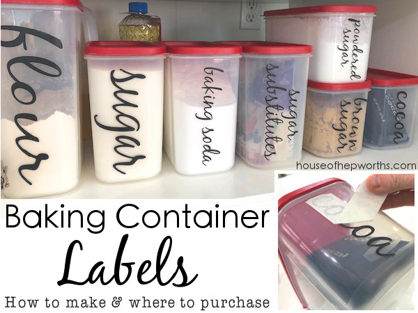 See My Original Post About Creating Your Own Baking Container Labels:
