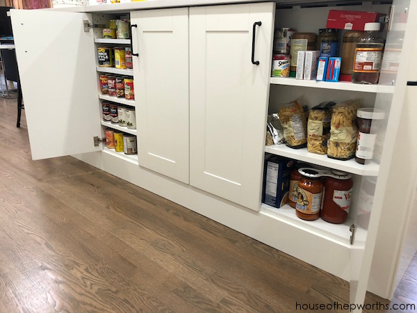 Here S Another Great Way I Came Up With For Storing Canned Goods In Our Last House We Had A Blank Wall Pantry So Built Custom Shelf To Hold
