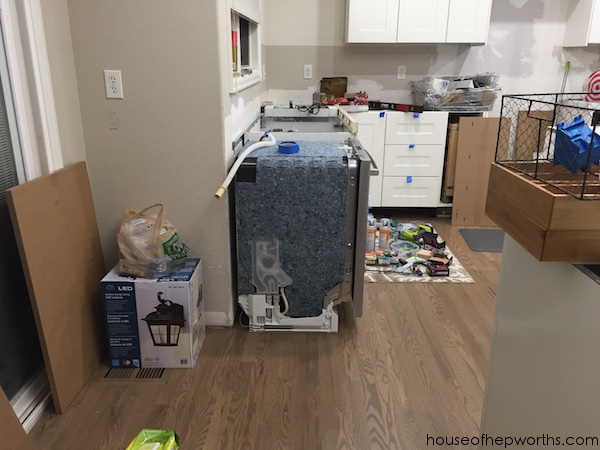 Creating a wrap-around cabinet & moving the dishwasher ...