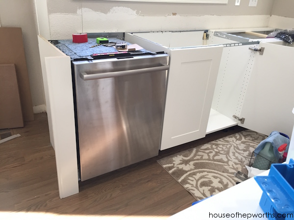 Creating A Wrap Around Cabinet Moving The Dishwasher Ikea