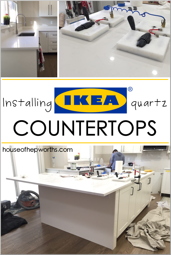 Installing IKEA quartz countertops. Everything you want to know about purchasing and installing countertops from IKEA. Frosty Carrina. www.houseofhepworths.com