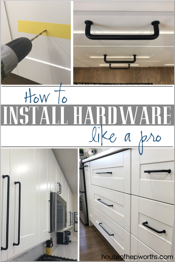 How to install hardware like a pro! Check out these tried and true tips to make sure your hardware is exactly where you want it to be. www.houseofhepworths.com