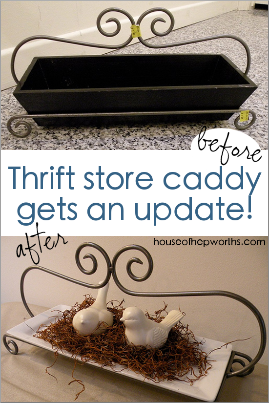 Thrift store caddy gets an update. www.houseofhepworths.com