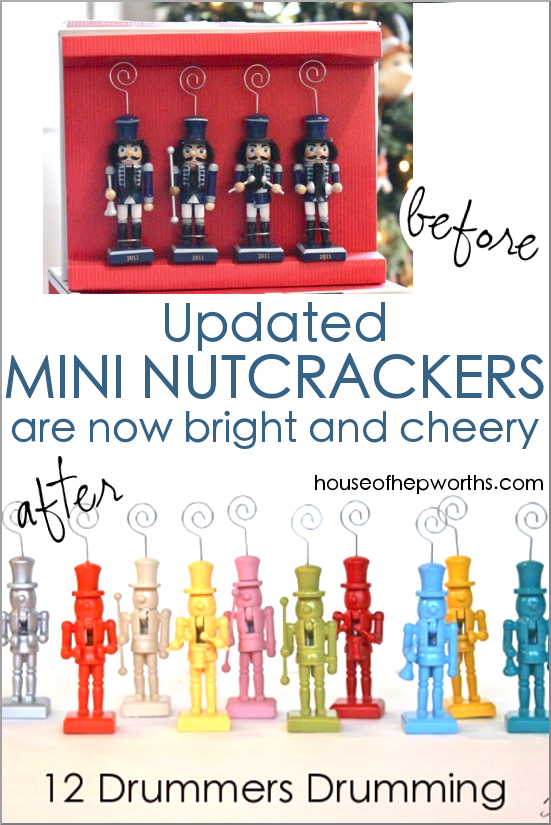 Turn thrifted ugly mini nutcrackers into a rainbow of colors! www.houseofhepworths.com