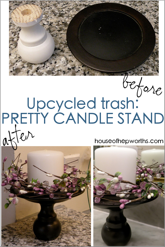 Turn thrift store trash into the cutest candle stand! Super easy DIY! www.houseofhepworths.com