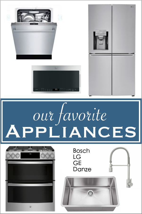 Our Favorite Appliances For Our New Kitchen Bosch Lg Ge