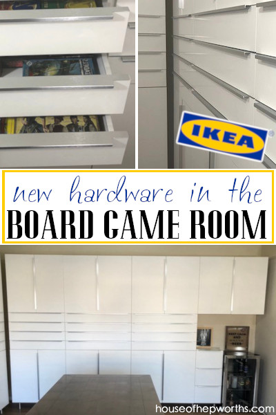 IKEA hardware for board game room cabinets