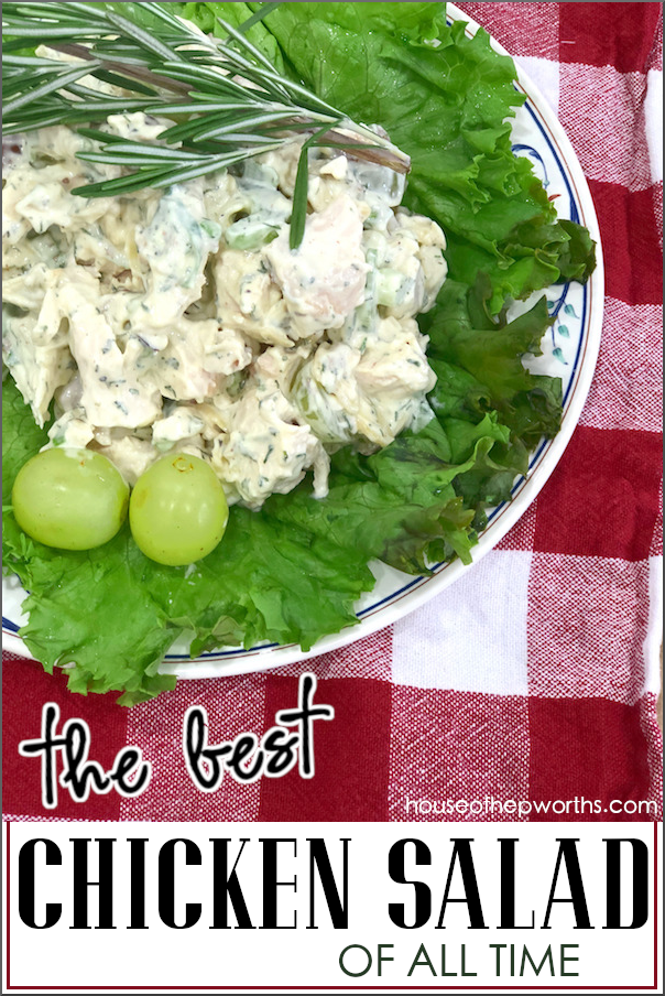 The best chicken salad recipe you will ever taste! Recipe at www.houseofhepworths.com