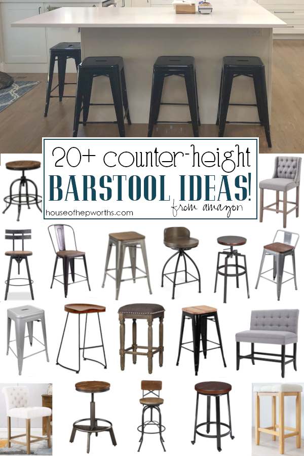 Farmhouse counter-height barstools